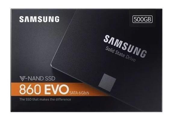 Ssd Samsung 860 Evo 500gb V-nand Sata3 6gb/s 2,5 550mb