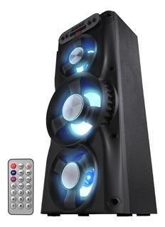 Parlante Bluetooth Portátil Smart Usb Led Fm Súper Potencia Mp3 Música Luces Radio Celular Batería Recargable