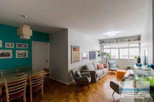 Apartamento Com 3 Dormitórios À Venda, 91 M² Por R$ 950.000,00 - Vila Nova Conceição - São Paulo/sp - Ap2687