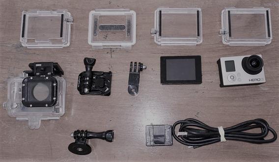 Gopro 3 Silver + Monitor + Bateria Extra