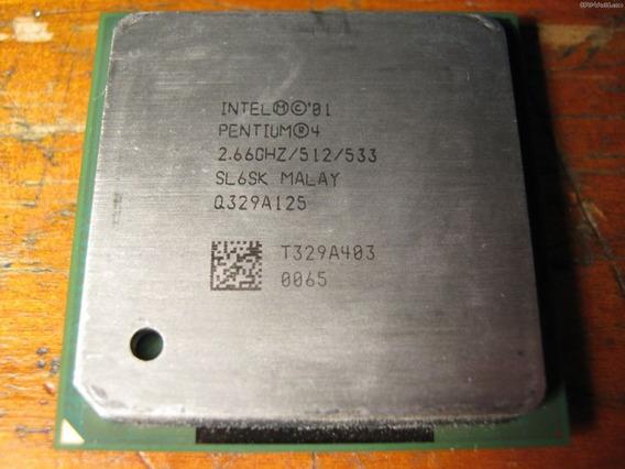 Processador Intel Em 2.5ghz Socket 478 P/pc. Envio Td.brasil
