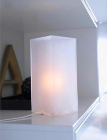 Lámpara De Mesa Color Blanco Lámpara Led De Mesa
