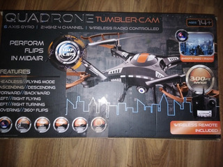 Drone Quadrone Tumbler-cam300ft Range