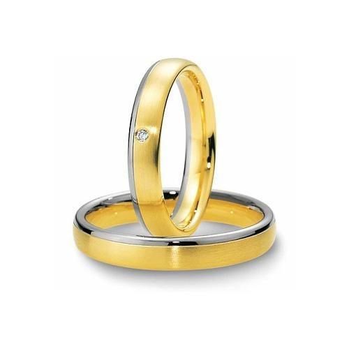 Par Alianças Casamento 4mm Ouro 18k Prata 950 Misto Wmjóias