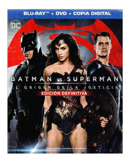 Batman Vs Superman El Origen De La Justicia Blu-ray + Dvd