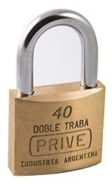 Candado De Bronce Doble Traba De 40mm Prive 354