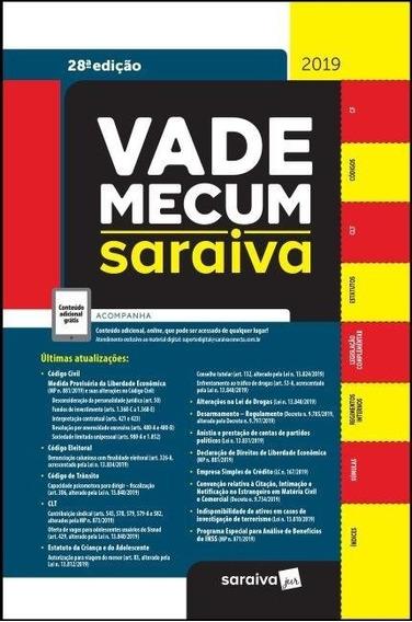 Vade Mecum Tradicional Saraiva - 28ª Ed. 2019 Liberação Imed