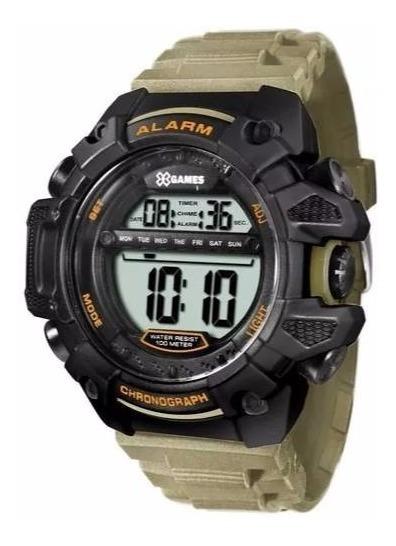 Relógio Militar X-games Xmppd398 Bxex Digital Preto/verde
