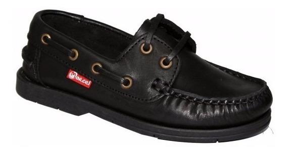 Zapatos Naútico Colegial Marcel Cosidos 27/33 Cordón Unisex