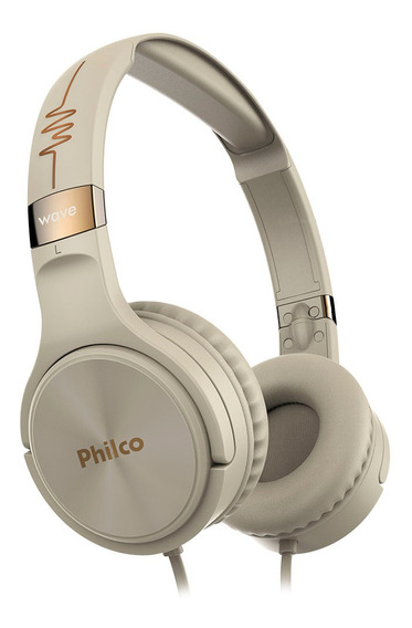 Headphone Multifunções Bege Pfo02g Philco Wave