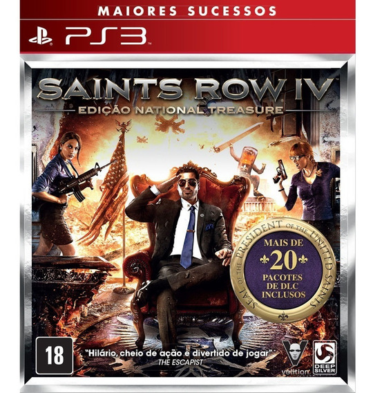 Saints Row 4 Iv National Treasure Edition + Dlcs - Jogos Ps3 Playstation 3