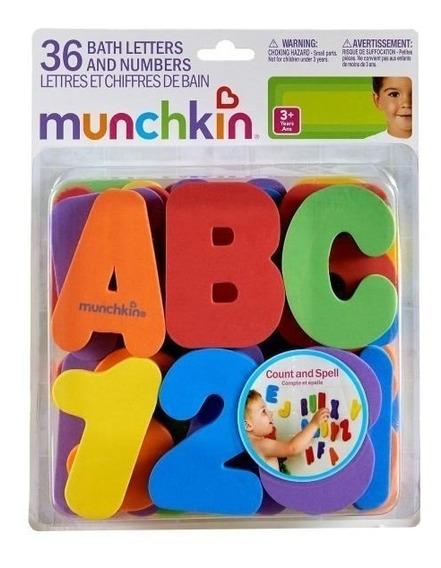 Letas E Números Para Banho Munchkin Com 36 (letras E Nº)