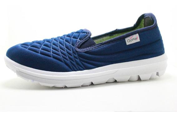 Zapatilla Mujer Anatomica Sin Cordones Azul40