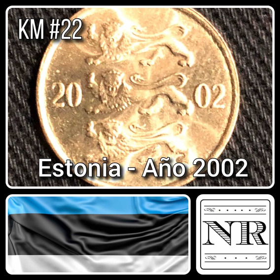 Estonia - 10 Senti - Año 2002 - Km # 22 - Escudo