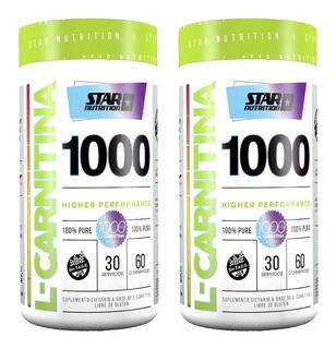 L-carnitina 1000 120 Tabs. Star Nutrition Quemador De Grasas