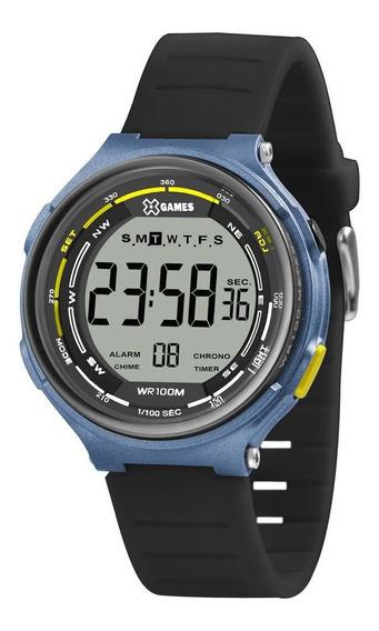 Relógio X-games Xmppd575 Bxpx Masculino Preto/azul