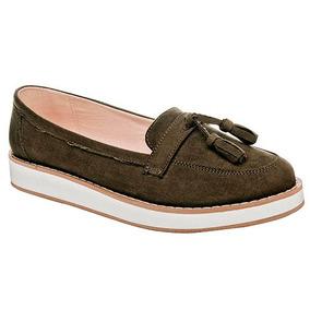 Zapatos Confort Flats Been Class Dama Textil Verde 66997 Dtt