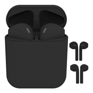 Audífonos Negro Mate I12 AirPods 1:1 Tws Bluetooth 5.0 Stereo Compatible Con iPhone Y Android