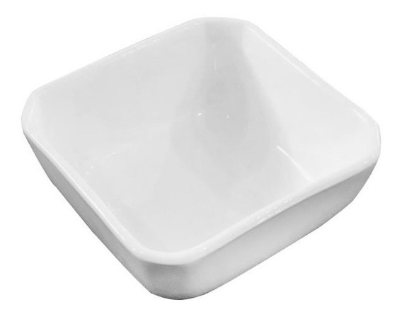 Dip Bowl Salsero Salsa Ceramica Blanco Soja Sushi Cuadrado
