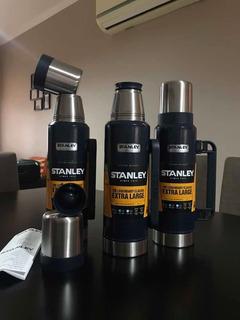 Termo Stanley Original Usa 1.3litros Azul Pico Cebador