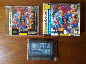 Jogo X-men Vs. Street Fighter Sega Saturn Original Japonês