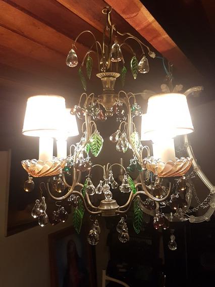 Lustre Versailles Com Contas Em Murano