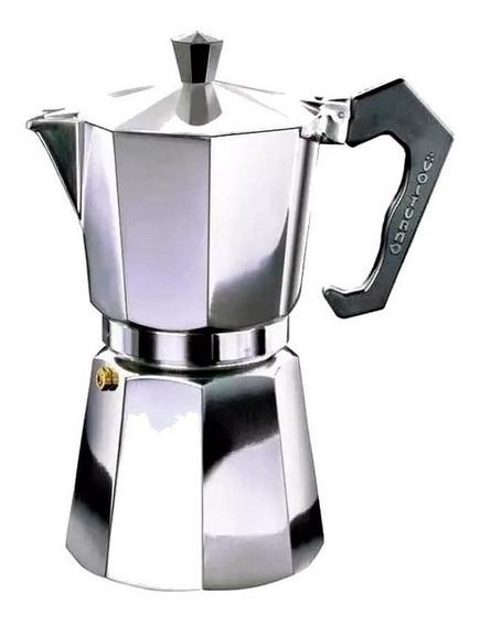 Cafetera Volturno Clásica 6 Pocillos Aluminio