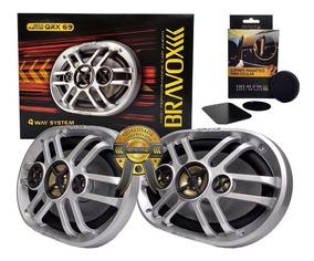 Auto Falante Quadriaxial 6x9 Bravox Qrx69 360w Rms + Brinde