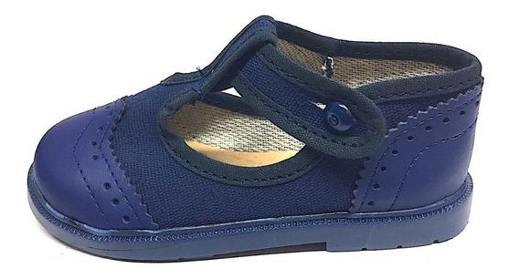 Zapatos Guillerminas Clasicas Comunión Bebe Nena Blanco Azul