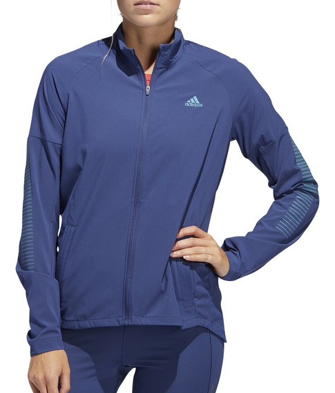 Campera Rompeviento adidas Training Rise Up W Mujer Az/ce