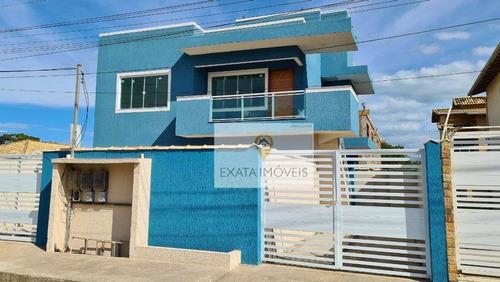 Imagem 1 de 12 de Lançamento! Casas Tipo Apartamentos, Próximas A Praia De Itapebussus/rio Das Ostras. - Ca1139