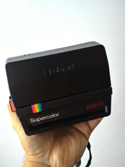 Câmera Instantânea Polaroid 635 Cl Supercolor Raridade