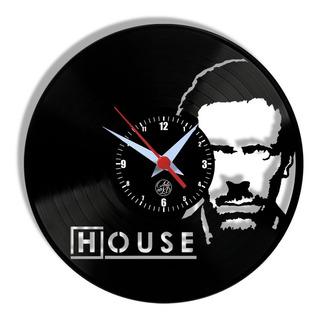 Dr. House Série Relógio Parede Disco Vinil Lp Tv Médico Arte