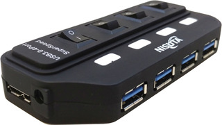 Hub Usb 3.0 4 Puertos Con Switch Interruptor Y Luz