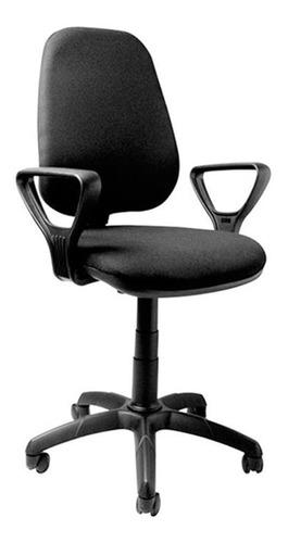 Imagen 1 de 2 de Silla de escritorio Baires4 Ejecutiva ergonómica  negra con tapizado de cuero sintético