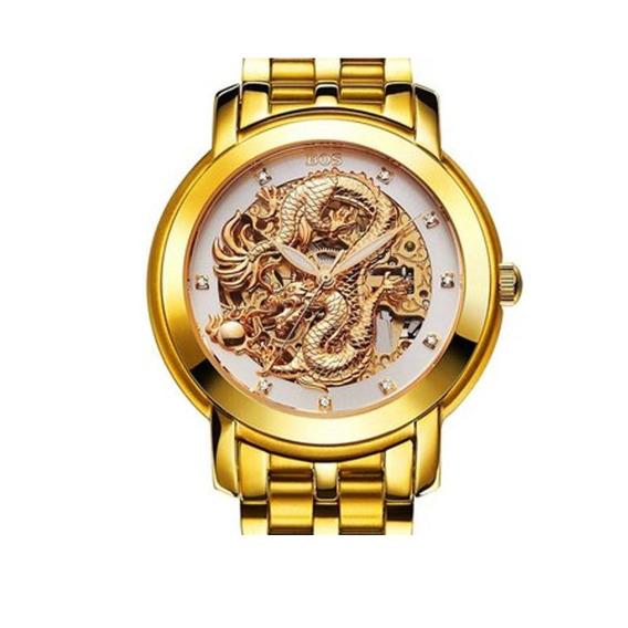 Personalizada Folk Reloj De Cristal De Imitación Plateado De