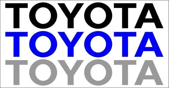 Adesivo Traseiro Camionete Toyota -