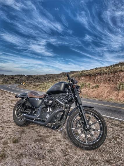 Harley Davidson Iron Con Muchos Accesorios