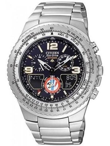 Relógio Citizen Skyhawk Esquadrilha Da Fumaça Tz10146t