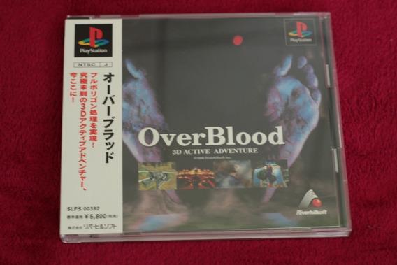 Jogo Overblood 100% Original Completo Cib Playstation Psone