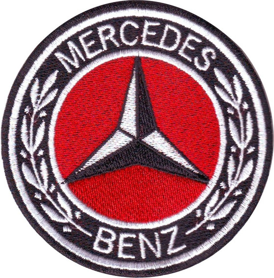Mercedes Benz Rojo Carros Parches Bordados 7.5 Cm P/ Coser