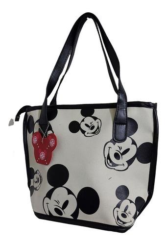 Imagen 1 de 6 de Bolsa De Dama Pequeña De Disney, De Mickey Mouse En Hueso