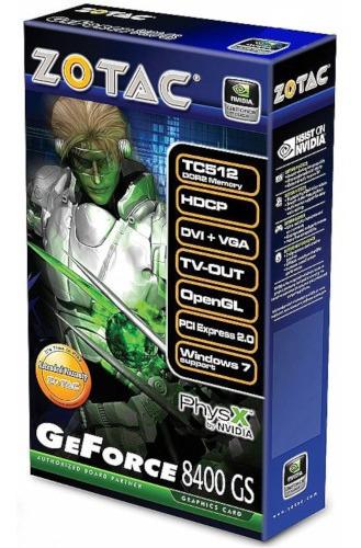 Placa De Vídeo Geforce 8400 Gs Ddr2 512mb Zotac - Nvidia