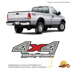 Emblema/adesivo 4x4 Maxpower F250 Ford - Modelo Original