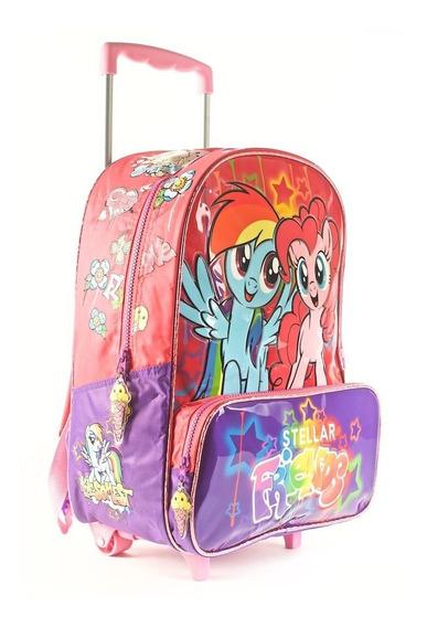 Mochila My Little Pony 16 Pulgadas Con Carro Wabro 69603