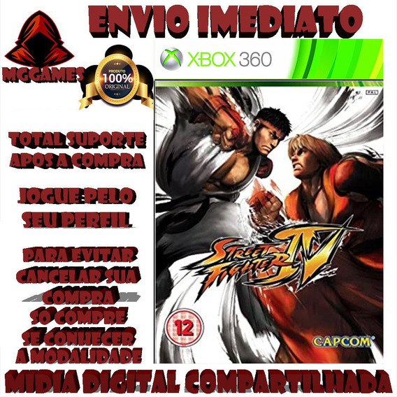 Street Fighter 4® Xbox 360 - Midia Digital Compartilhada