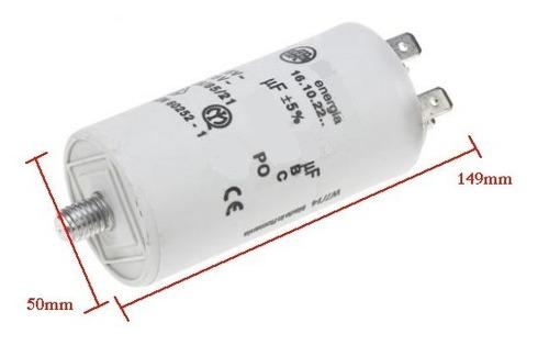 Imagen 1 de 1 de Capacitor Condensador Redondo 125mfd 125uf 250v Sin Cable Tornillo Bomba