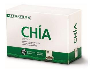 Chia Natufarma X30 Cap Omega 3 Reduce Colesterol S/ Tacc