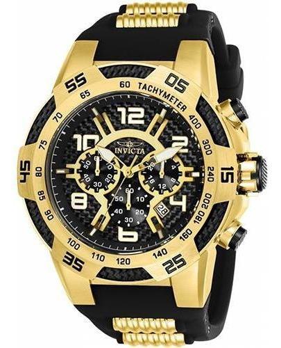 Relógio Masculino Invicta Speedway 24233 52mm Preto/dourado