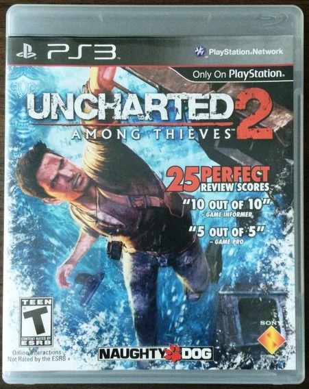 Uncharted 2 Among Thieves Ps3 Original Completo Mídia Física
